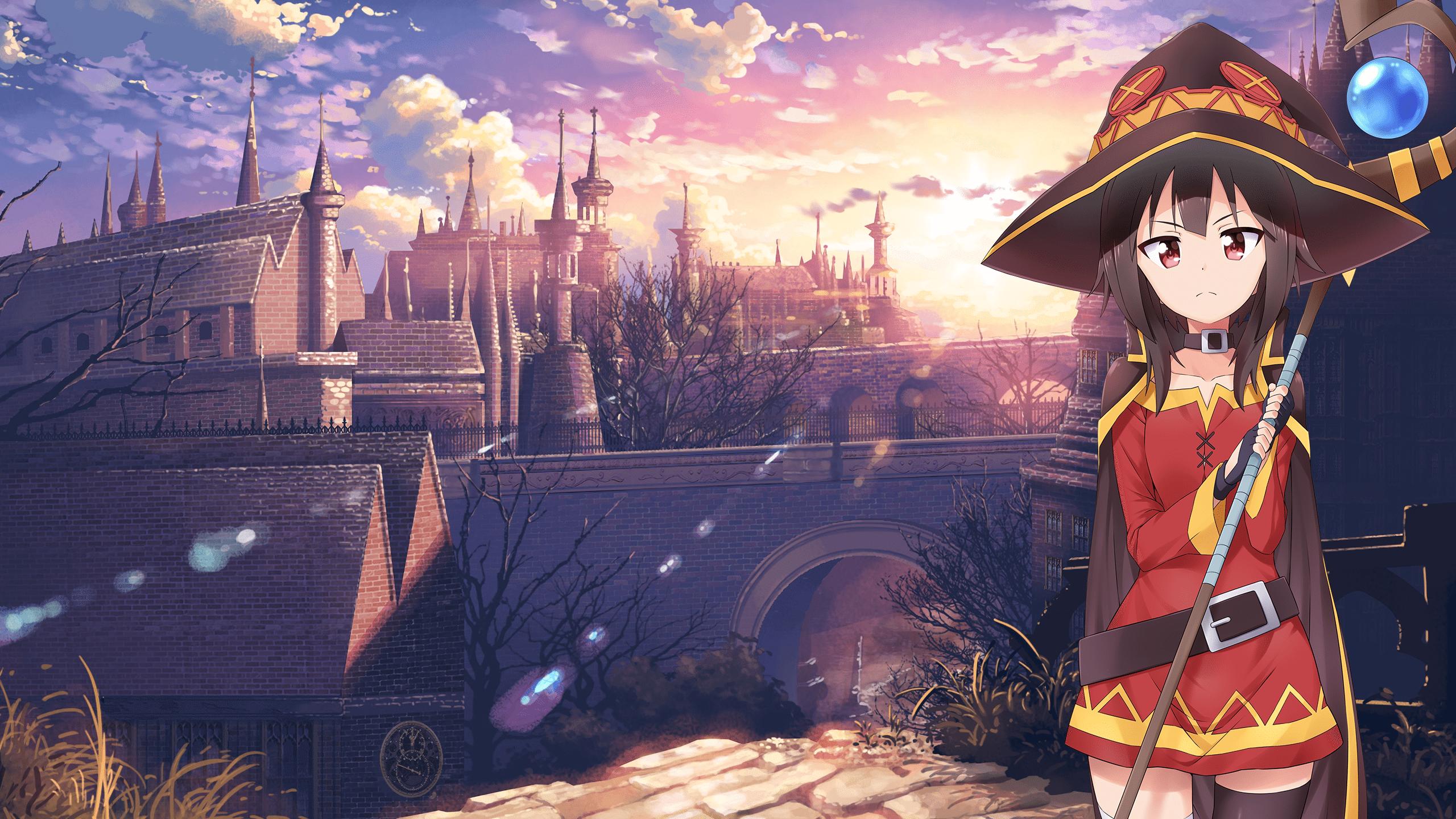 Megumin Konosuba 2560x1440 1920x1080 Hq Backgrounds Hd Wallpapers Gallery Gallsource C Background Hd Wallpaper Hd Anime Wallpapers Game Illustration