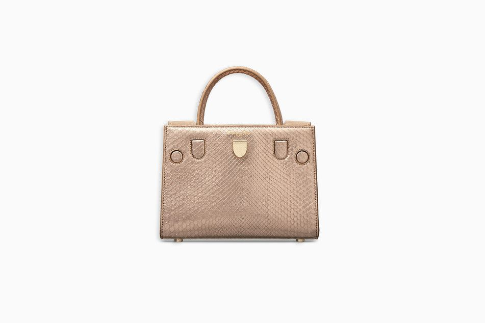 4ebbbdfa2d MINI DIOREVER BAG IN PINK METALLIC PYTHON - Diorever Dior   Dior ...