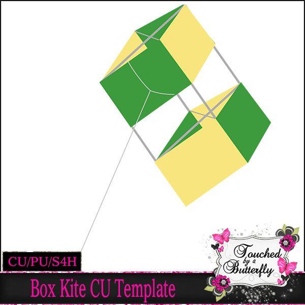 Daisies \ Dimples Box Kite Template CU tbab_boxkitcu - D\D New - kite template