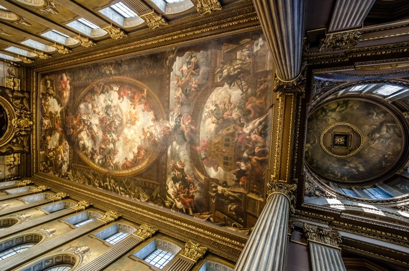 Painted Hall, Greenwich, London, part of the Old Royal Naval College