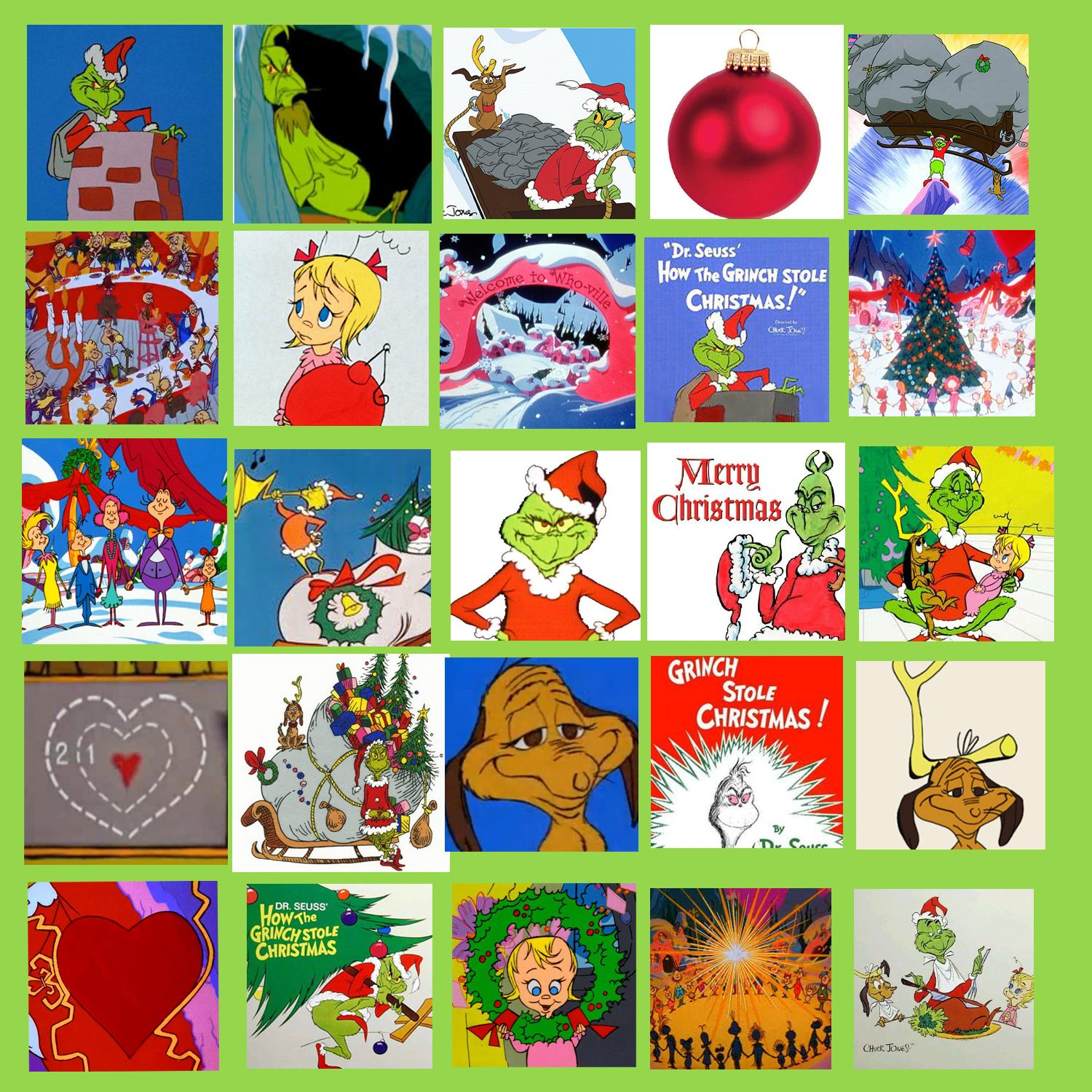 My Own Grinch Bingo Card I Found 25 Different Images On