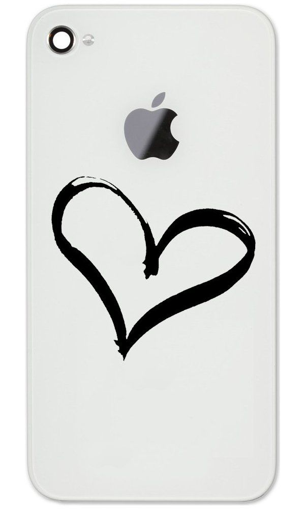 """Heart Love Peace Vinyl Cell Phone Decal for the iPhone or Android (BLACK 2"""" WIDE) Best Price"""
