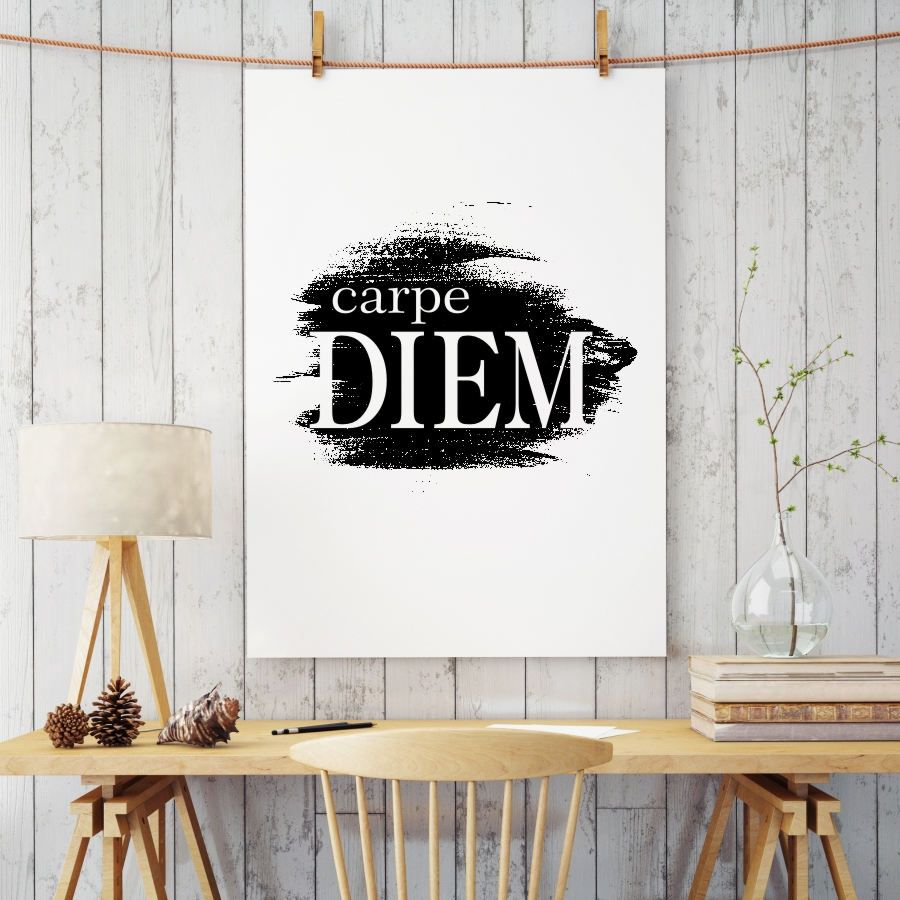 Carpe Diem Print, Typography Poster, Motivational Quotes