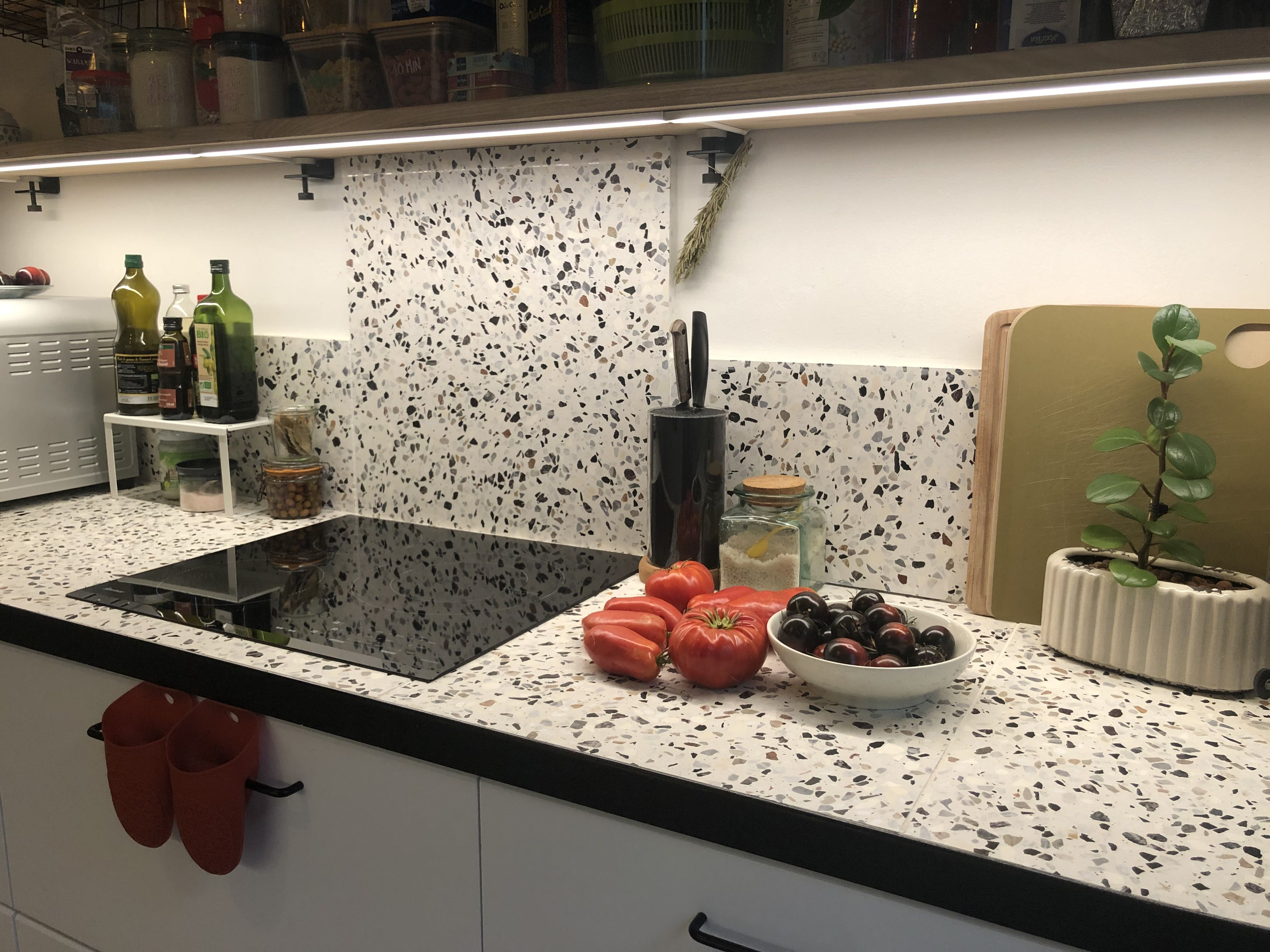 Realisation Plan De Travail Cuisine En Terrazzo En 2020 Plan De Travail Granit Plan De Travail Cuisine Terrazzo