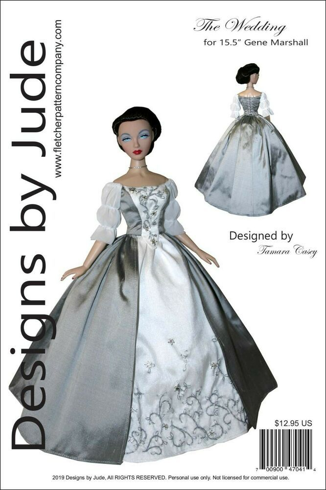 Chandelier Evening sewing pattern for the Gene Marshall doll by Ashton Drake