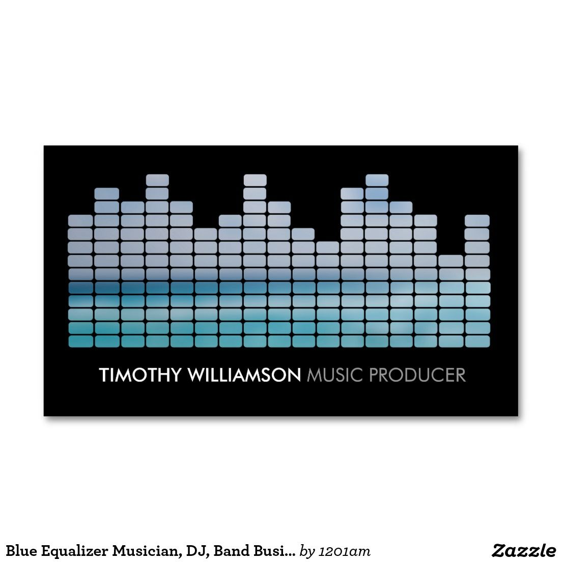 Blue Equalizer Musician, DJ, Band Business Card | Business cards ...