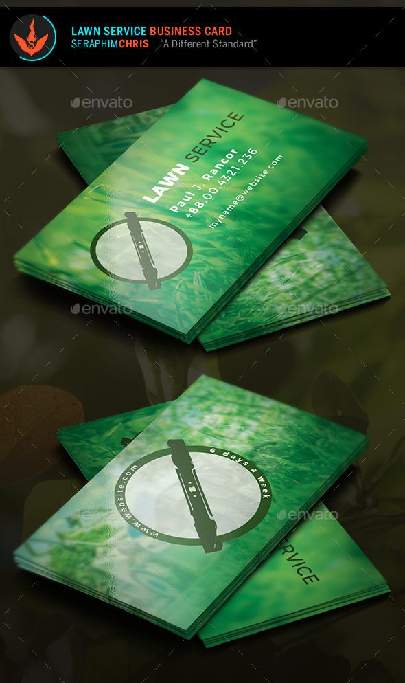 Lawn Service Business Card Template Lawn Service Card Templates - Lawn care business card templates