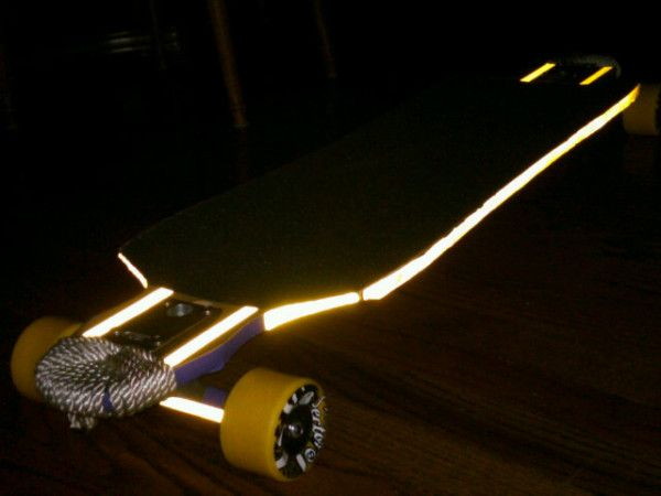Reflective tape makes your longboard visible at night with you on reflective tape makes your longboard visible at night with you on it also easier to find when it gets away from you and careens out of control into the aloadofball Choice Image