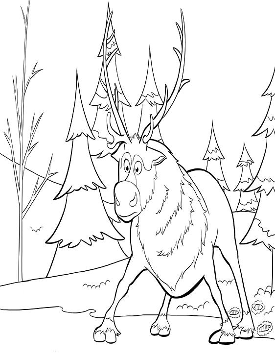 coloring pages sven   Coloring Pages For Kids - WorksheetsGuru ...