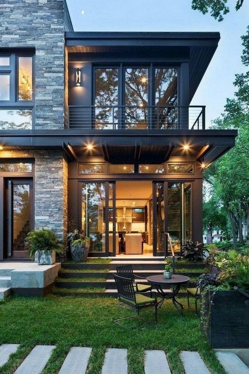 18 Amazing Contemporary Home Exterior Design Ideas: 50 Rustic Contemporary Lake House With Privileged House Design 2019 4 » Centralcheff.co