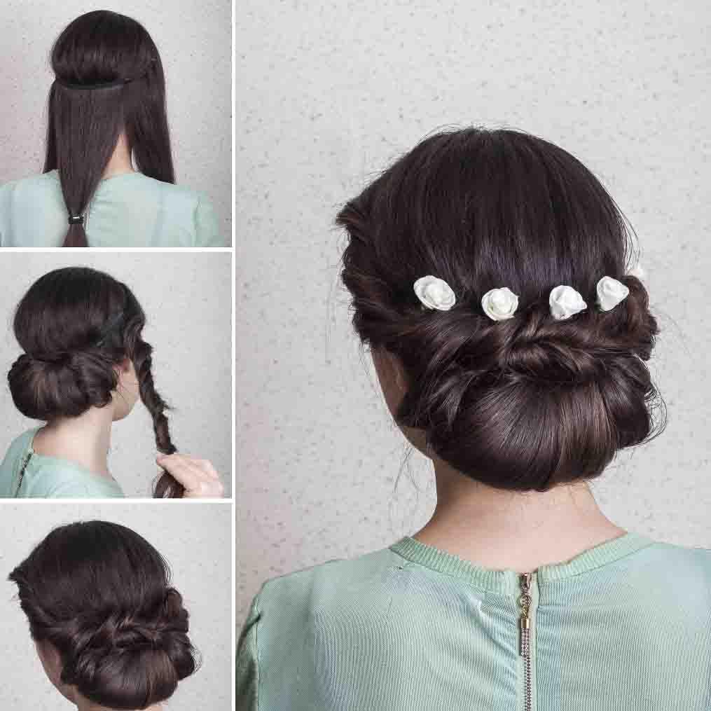 Wedding Hairstyles Elegant Updo Tutorial In 10 Easy Steps Updo Tutorial Elegant Updo Bridesmaid Hair Side