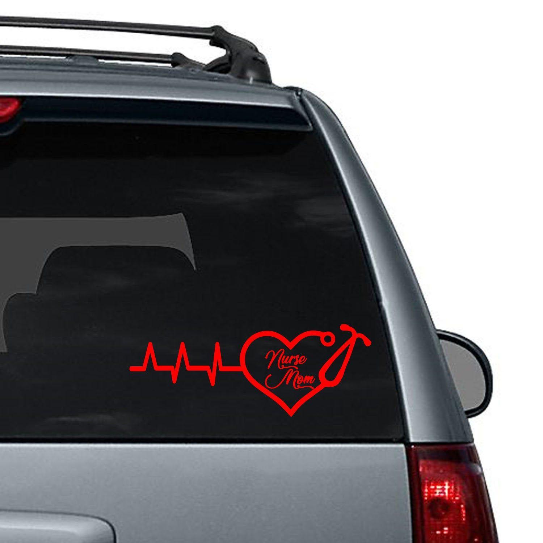 Nurse Mom Heart Stethoscope Car Decal Computer Sticker Etsy Window Decals Computer Sticker Car Decals [ 1500 x 1500 Pixel ]