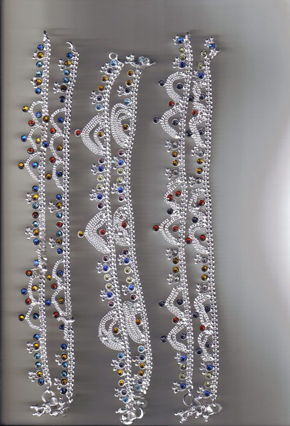 Silver Payal Designs | Payal | payal / anklet | Pinterest | Anklet ...