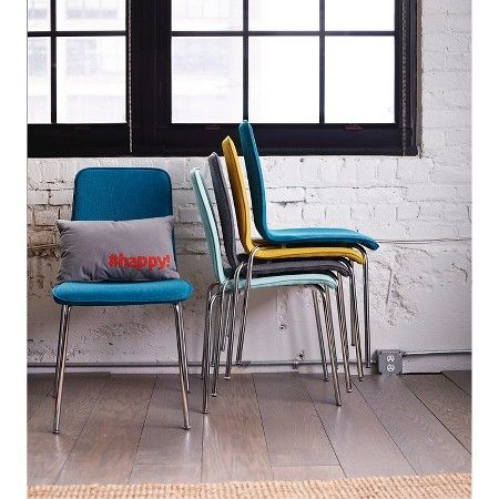 39 Room Essentials Upholstered Stacking Chair Yellow