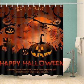 Bathroom Decor Happy Halloween Shower Curtain