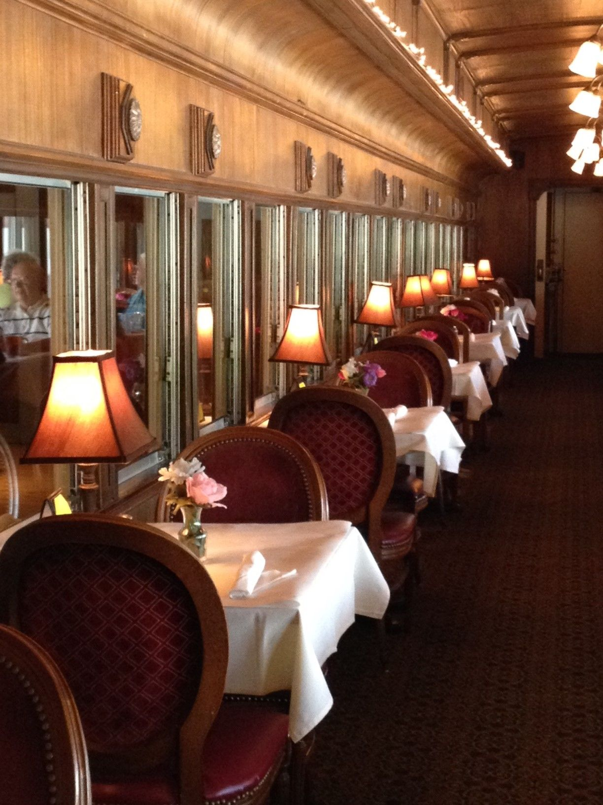 Dining In A 1927 Pullman Railroad Train Car Lunch Or