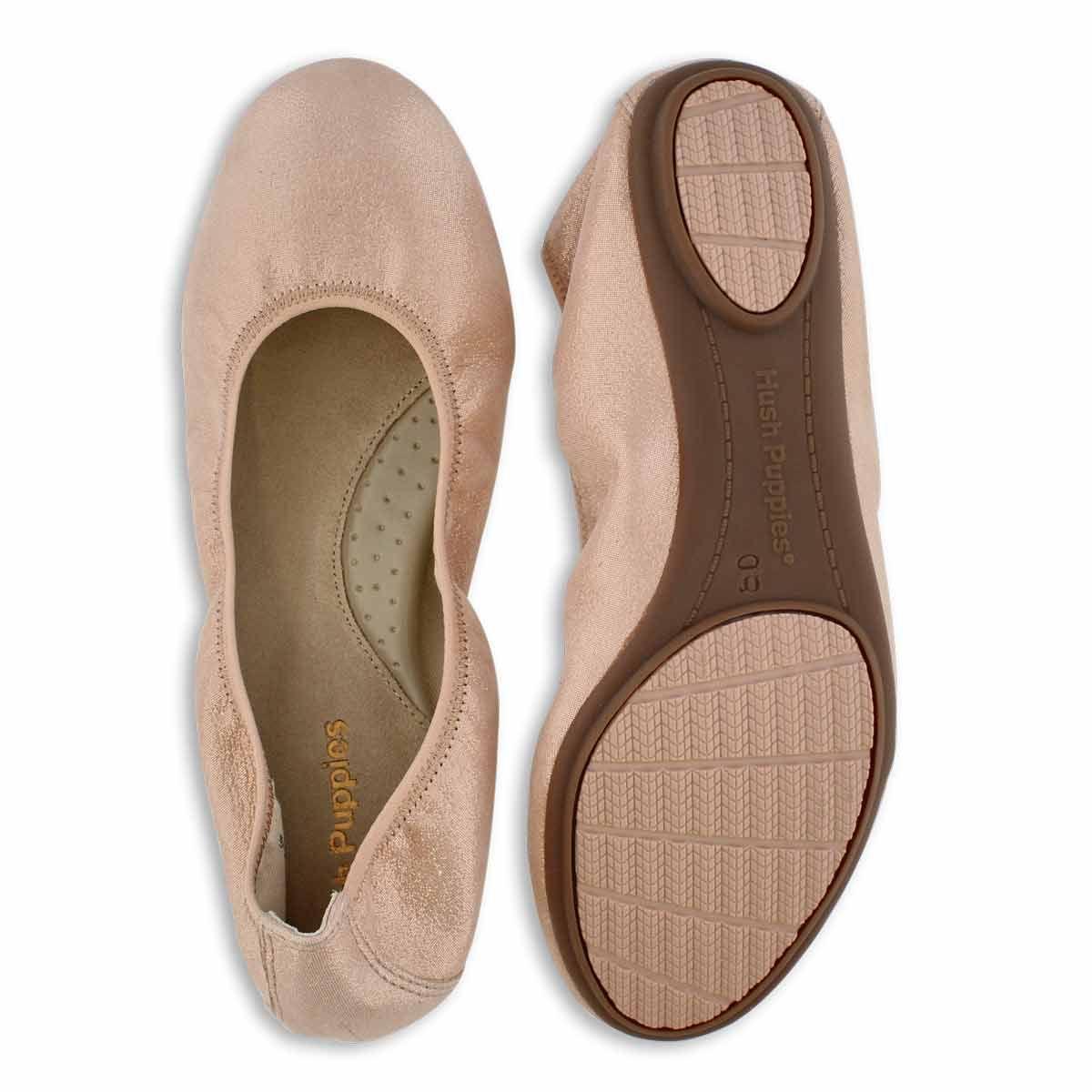 Hush Puppies Women S Chaste Ballet Pale Peach Softmoc Com Casual Shoes Women Hush Puppies Women Hush Puppies