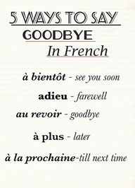 How to say be good in french