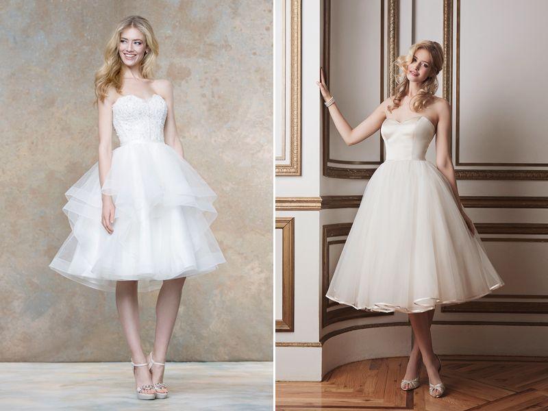 30 Modern Short Wedding Dresses For Summer Brides | Ellis bridal ...