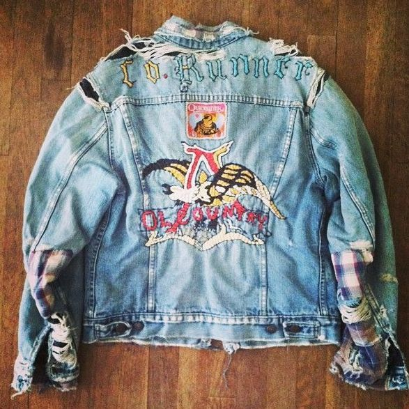 cool denim jacket | Bell Bottom Blues You Made Me Cry | Pinterest ...