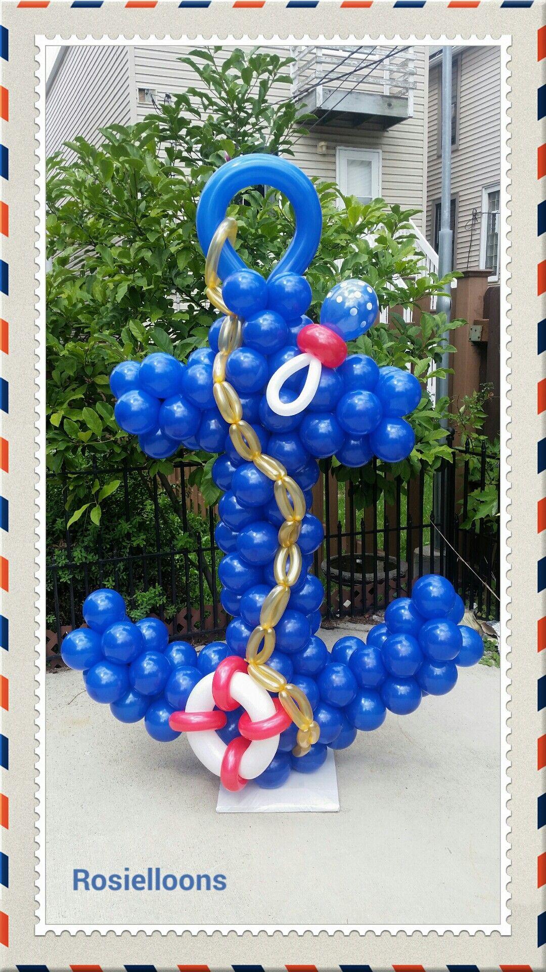 Beautiful balloon anchor tropical under the sea for Anchor balloon decoration
