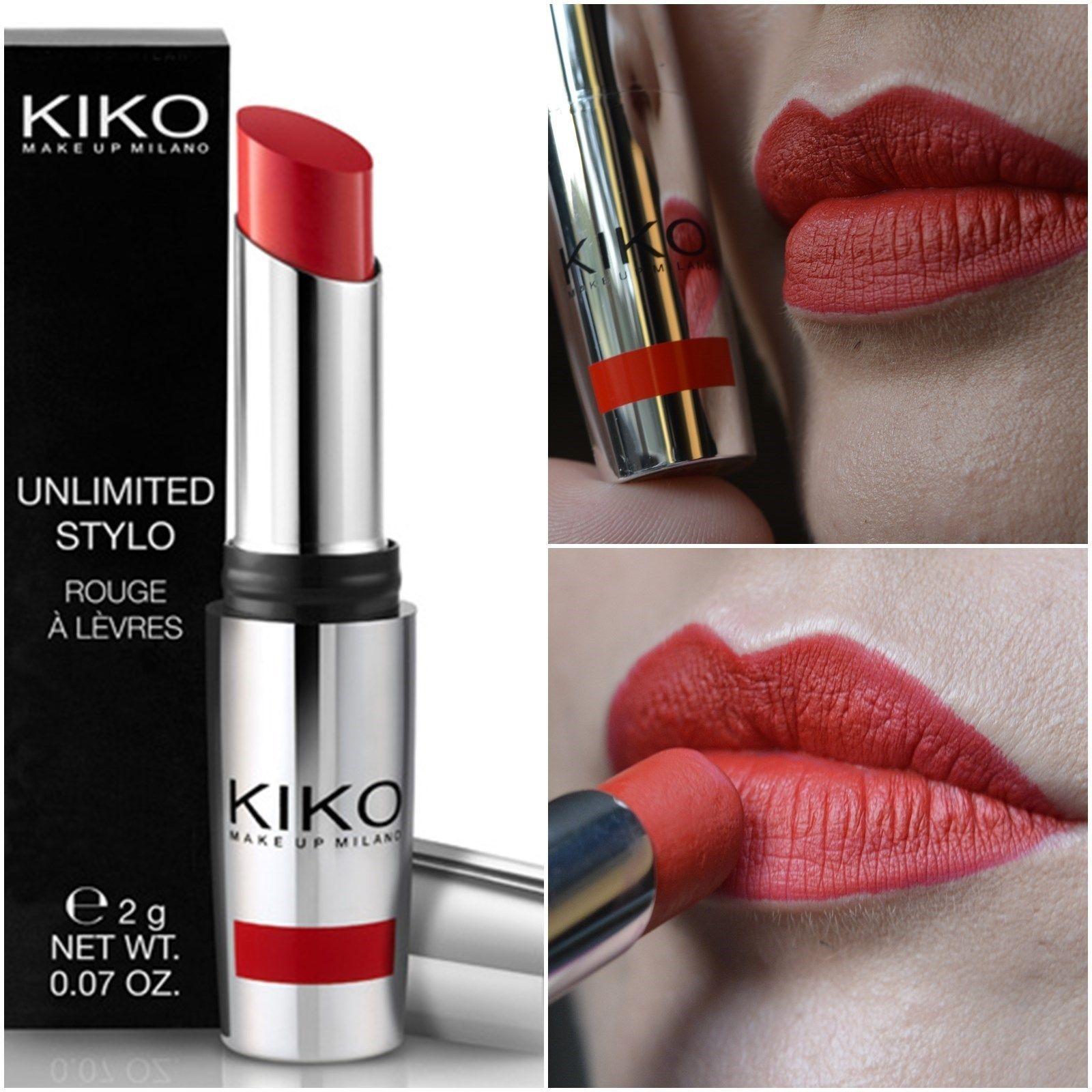 Resenha Batom Unlimited Stylo Kiko Cosmetics Batons Batom Maquiagem