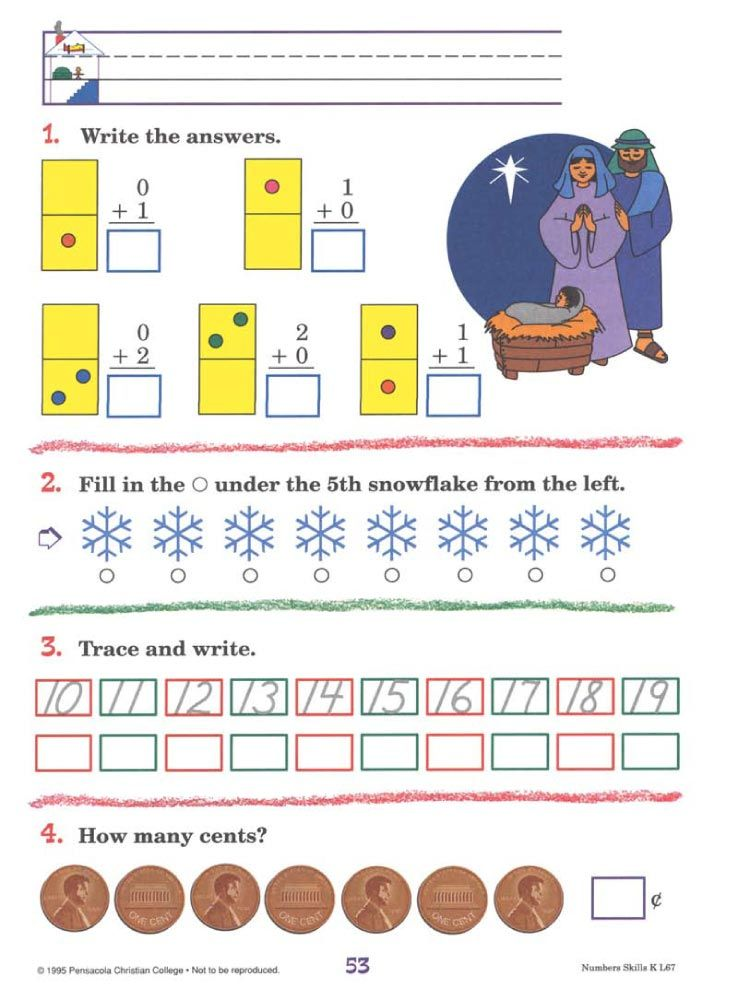 numbers skills k school a beka numbers fun learning. Black Bedroom Furniture Sets. Home Design Ideas