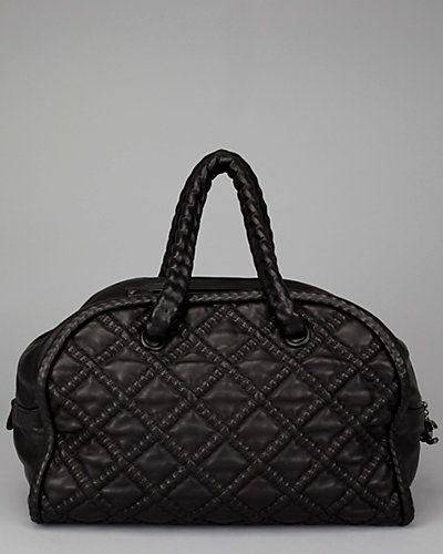 Chanel Black Quilted Leather Hidden Chain Tote
