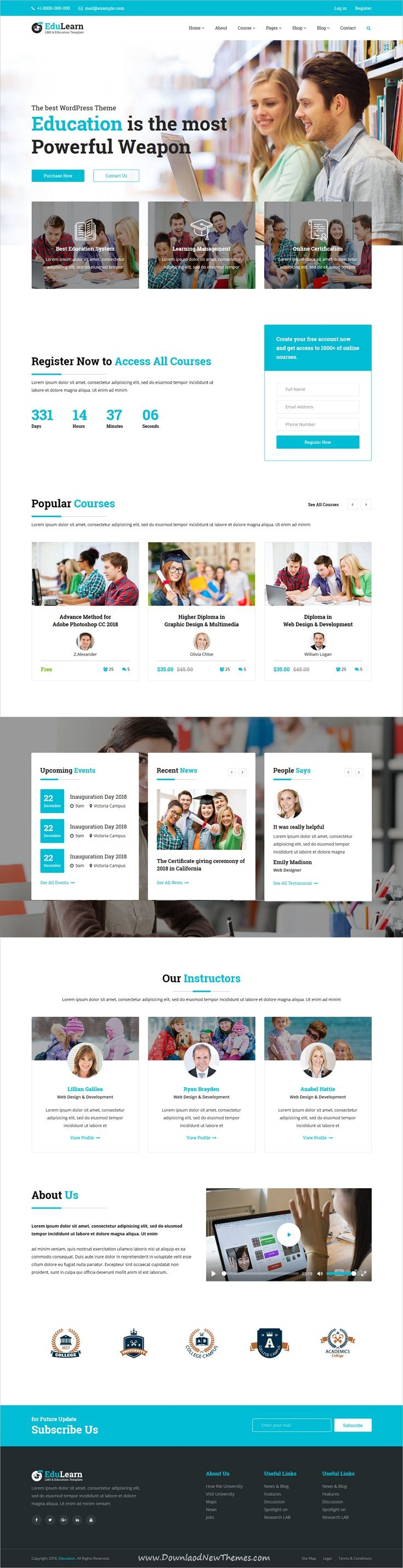 EduLearn hub is clean and modern design responsive bootstrap #HTML ...