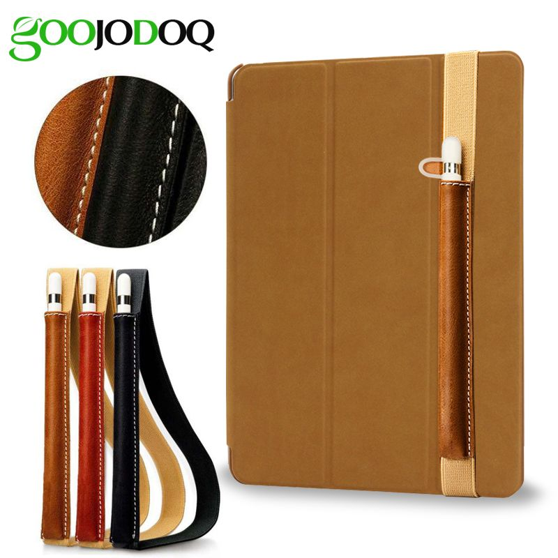 Leather Ipad case with slot for Apple pencil