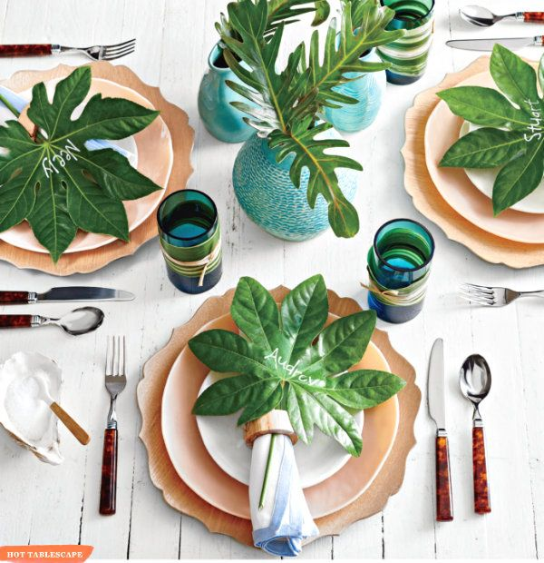Summer Beach Tablescape And A Summer Tablescape Party: A Tropical And Fun Tablescape