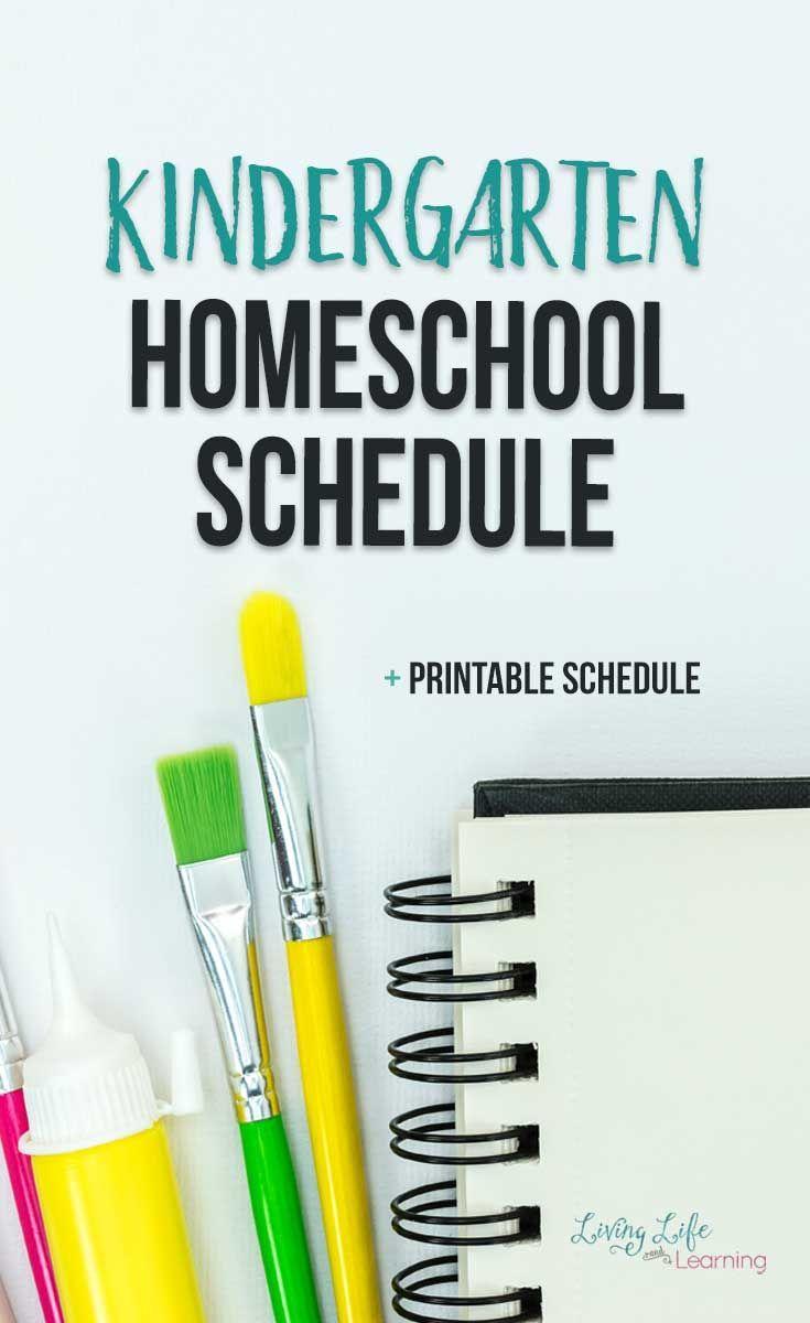 Photo of Kindergarten Homeschool Schedule + Printable Schedule