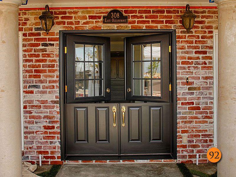 After Classic Styled 34 Fiberglass Double Dutch Entry Doors With Half Glass 9 Lite Clear Dual Pane Plastpro Model Drs40 Split Finish