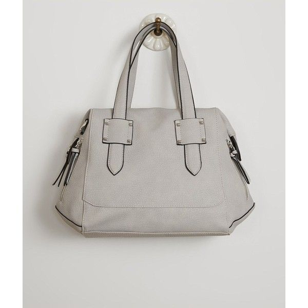 Violet Ray Distressed Purse ($50) ❤ liked on Polyvore featuring bags, handbags, grey, handbag purse, handbags bags, gray handbags, grey purse and gray bag