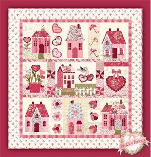 Sweetheart Houses Pattern from Shabby Fabrics | Book quilt ... : quilt house patterns - Adamdwight.com