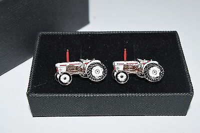 David brown #tractor #cufflinks gift box farming enamel wedding #white & brown, View more on the LINK: http://www.zeppy.io/product/gb/2/261988855423/