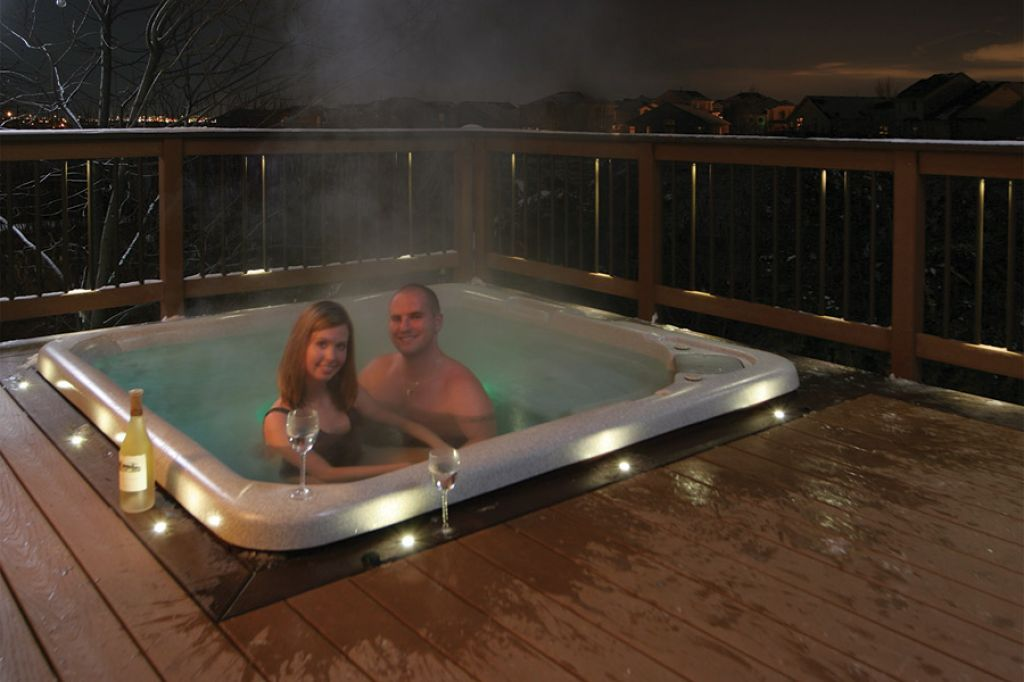 Couple In A Romantic Setting In The Jacuzzi Jacuzzi