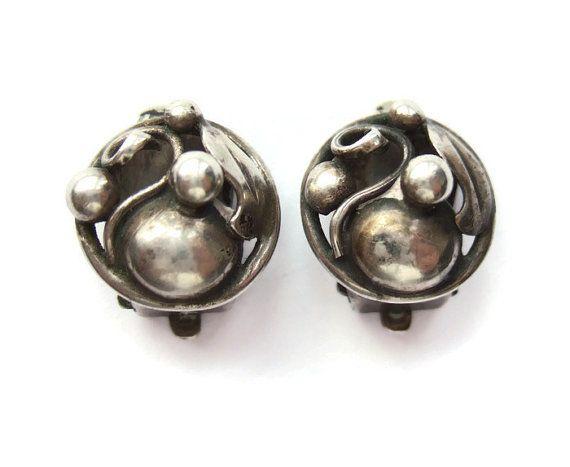 Vintage Danish Silver Clip On Silver Earrings Modernist Etsy Scandinavian Jewelry Stylish Earring Modernist Jewelry