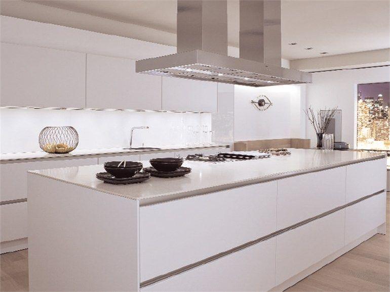 Cocina de aluminio con isla sin empuñaduras S2 by SieMatic Italia ...