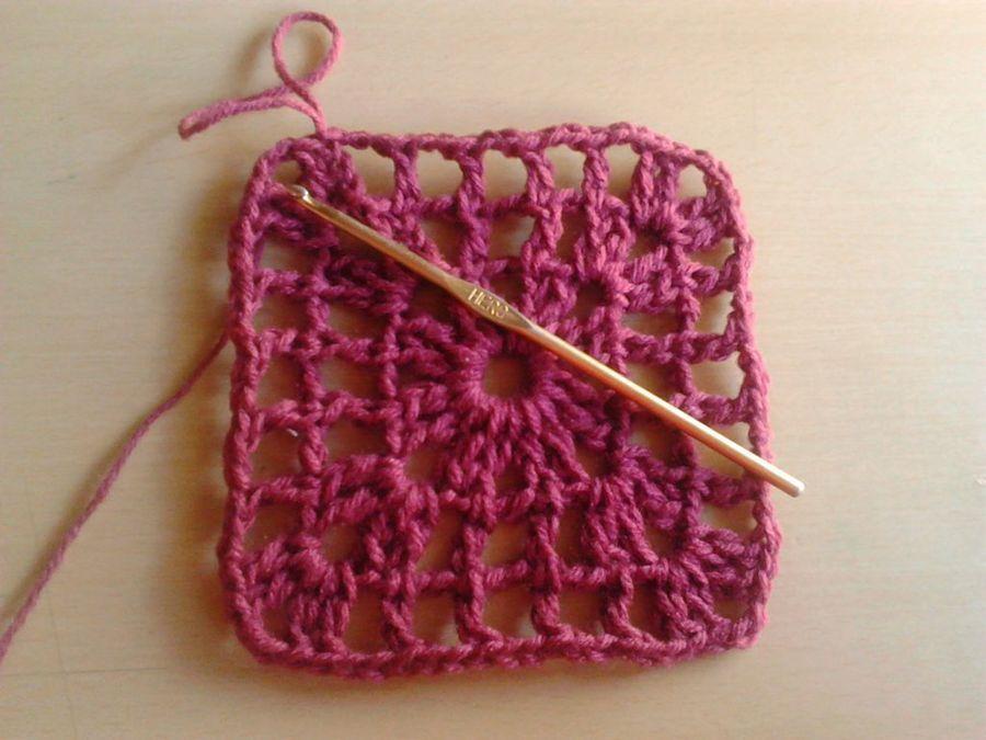 Cuadrito a crochet paso a paso: ¡Ideal para principiantes ...