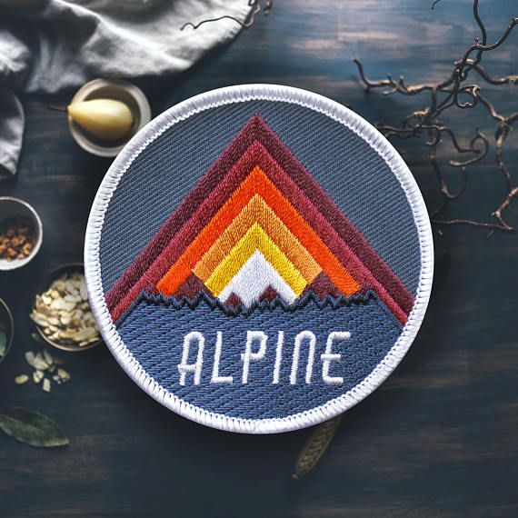 Alpine Mountain Hiking Patch | Embroidered | Patches for