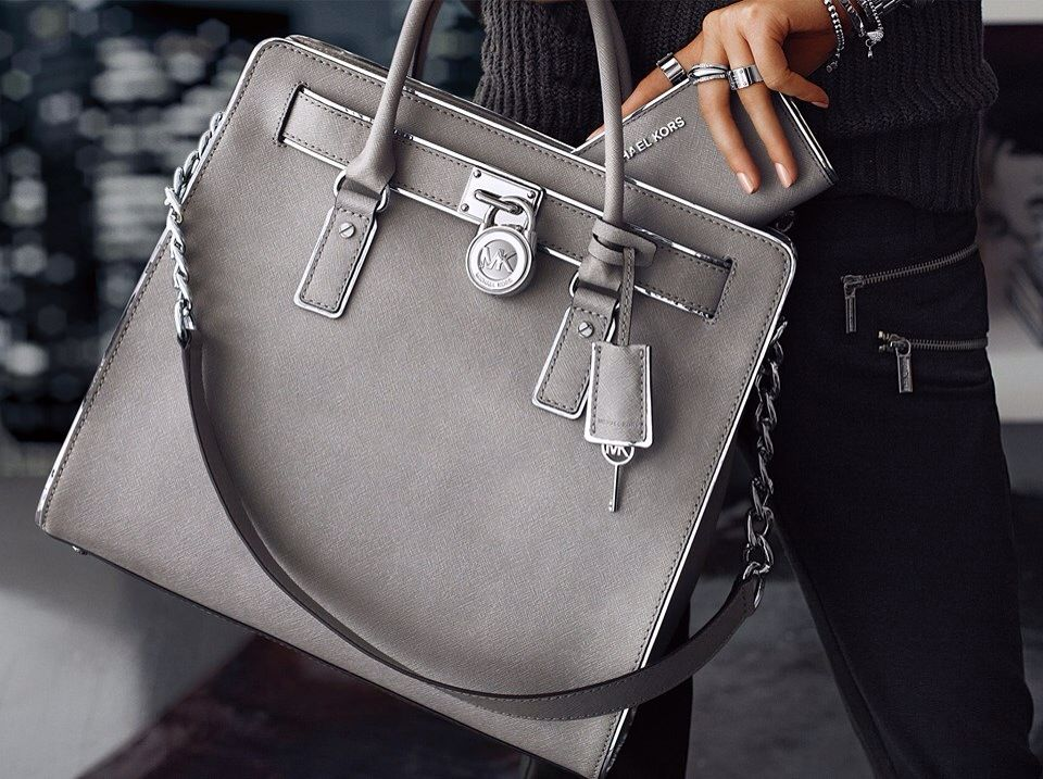 michael kors gray handbag fashion pinterest. Black Bedroom Furniture Sets. Home Design Ideas