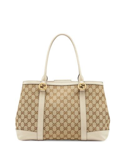 Gucci canvas tote bag http://rstyle.me/n/vh7mdnyg6
