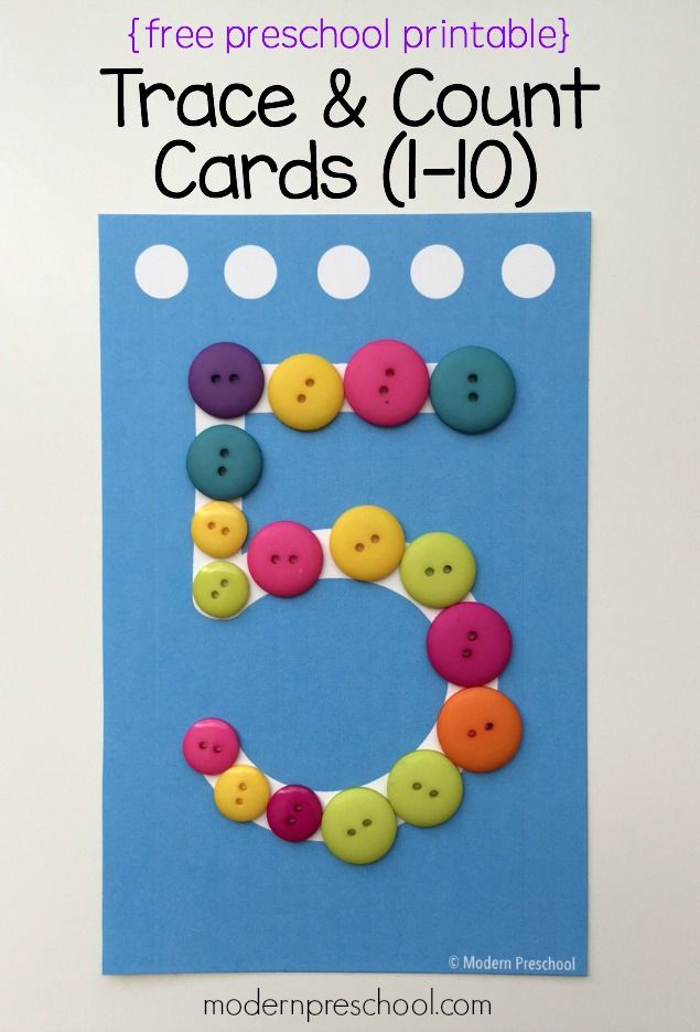Preschool Trace & Count Number Cards {free printable!} | Pinterest ...