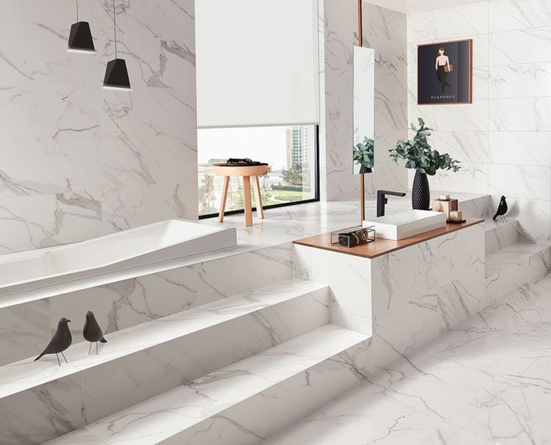 Calacatta Matt Marble Effect Tiles Home Pinterest Calacatta