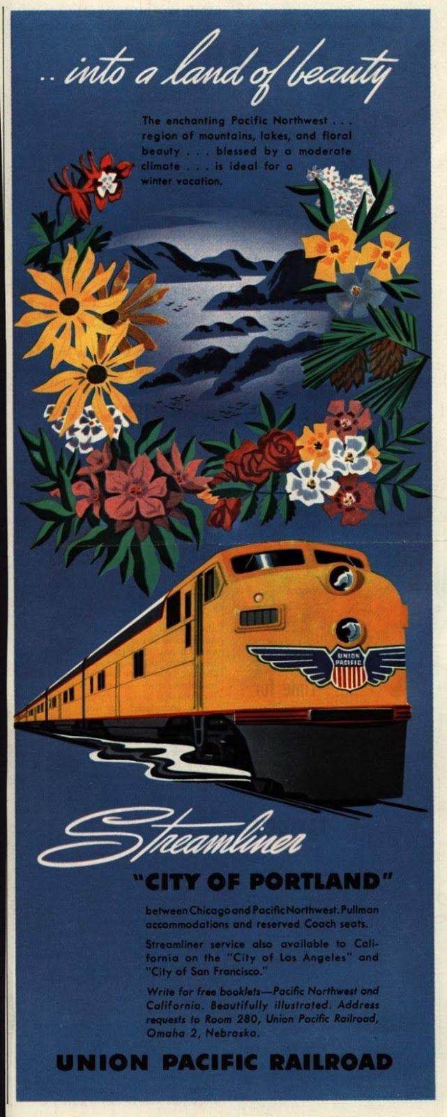 Union Pacific Railroad Vintage Posters