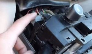 disconnect the wiring harness tied to the dodge neon switch