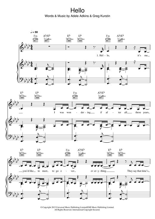 Hello Sheet Music | labrador | Pinterest | Music and Sheet music