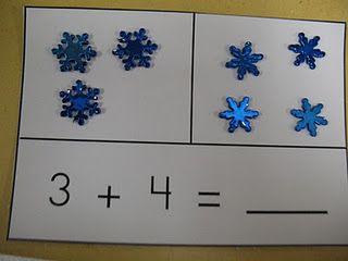snowflake addition- good for math BUILD