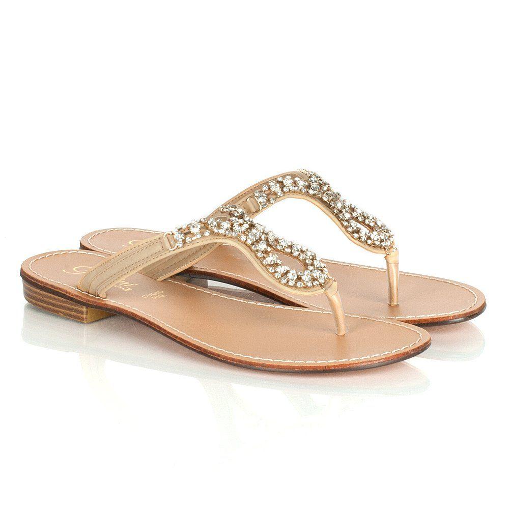 2af70463f48222 gold flat sandals for women